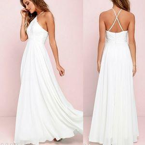 Lulu's - Everlasting Enchantment Ivory Maxi Dress